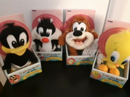 Vintage Tyco Looney Tunes Lovables Baby Taz Tweety Sylvester and Daffy S... - $98.95