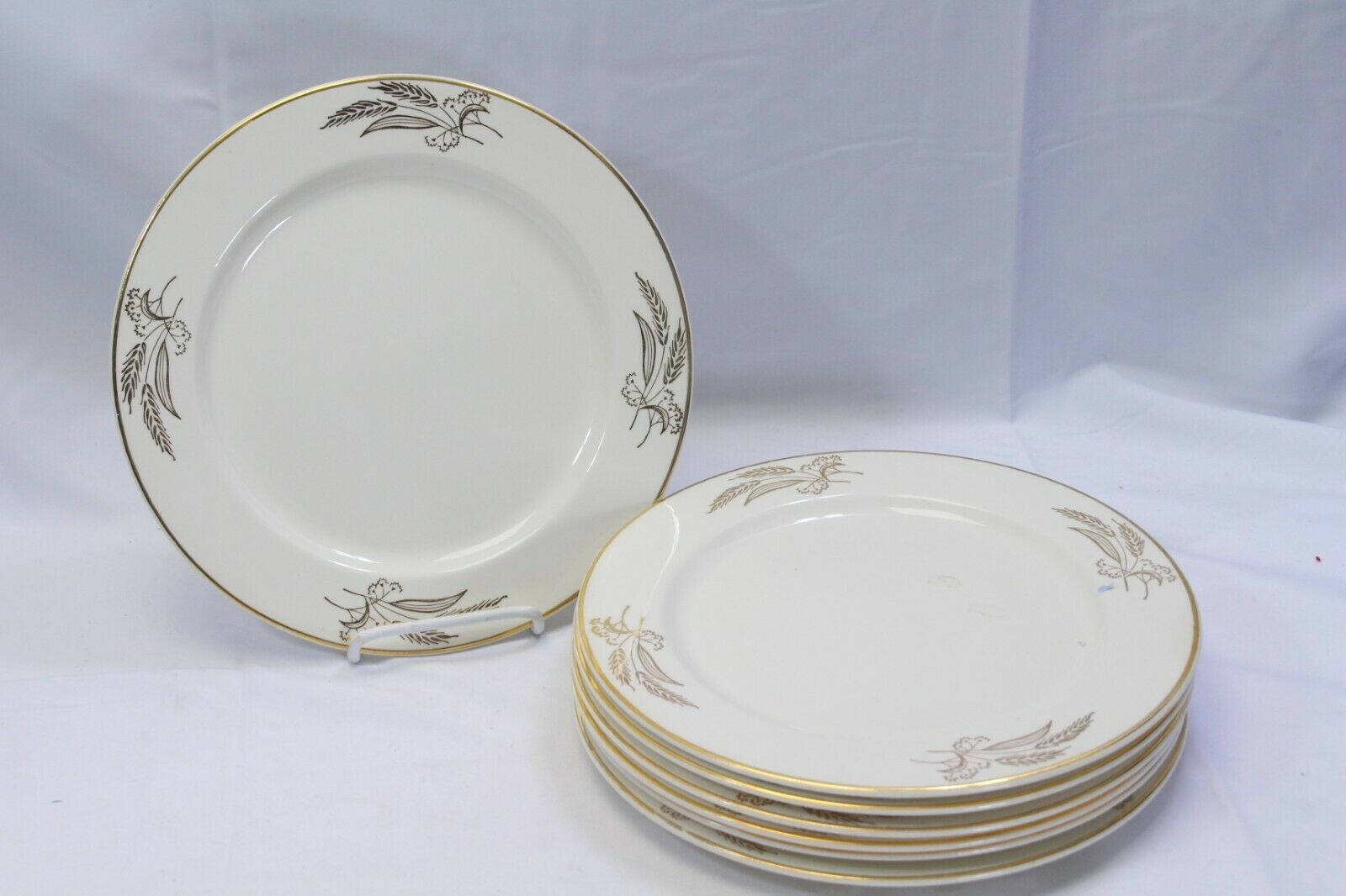 "Primary image for Lifetime China Prairie Gold Dinner Plates 10.25"" Lot of 6"