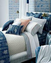 """Ralph Lauren """"Biarritz"""" Floral Queen Bedskirt Made In Usa 100%COTTON Blue New - $144.45"""
