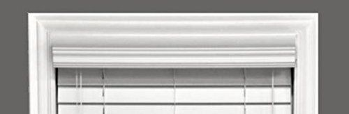 Custom-size VALANCE ONLY (Cornice), Faux Wood Snow White(OTHER COLORS AVAILABLE) for sale  USA