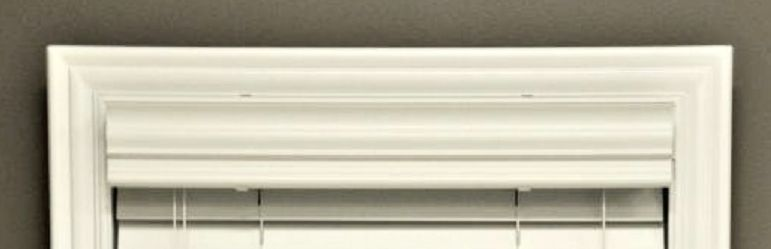 Custom-size, VALANCE ONLY (Cornice), Real Wood White (OTHER COLORS AVAILABLE), used for sale  USA