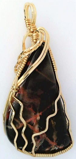 Primary image for Pilbara Jasper Gold Wire Wrap Pendant 29