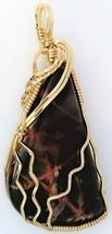 Pilbara Jasper Gold Wire Wrap Pendant 29 - $44.00