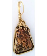 Spider Jasper Gold Wire Wrap Pendant 28 - $44.00