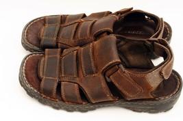 Men's Skechers Brown Leather Open Toe Sport Fis... - $29.65