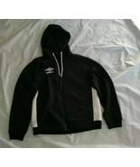 Umbro Men's Long Sleeve Black White FullZip Hoodie Quilted Fleece Sweats... - $32.71