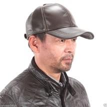 NEU Ledermütze Leder Cap Mütze Baseballmütze Leather Braun Hat - ₨733.88 INR