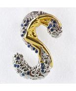 ERTE S made of Gold-Plated Sterling Silver, with Hand-Set Swarovski Crys... - $99.99