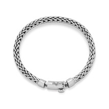 Men's 925 Sterling Silver Oxidized Woven Bracelet - $229.99