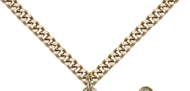 SCAPULAR - 14kt Gold Filled Pendant on a 24 inch Gold Plate Heavy Curb Chain image 3