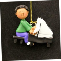 Ornament Central OC-182-MAA African/American Male Piano Player Figurine - $10.39