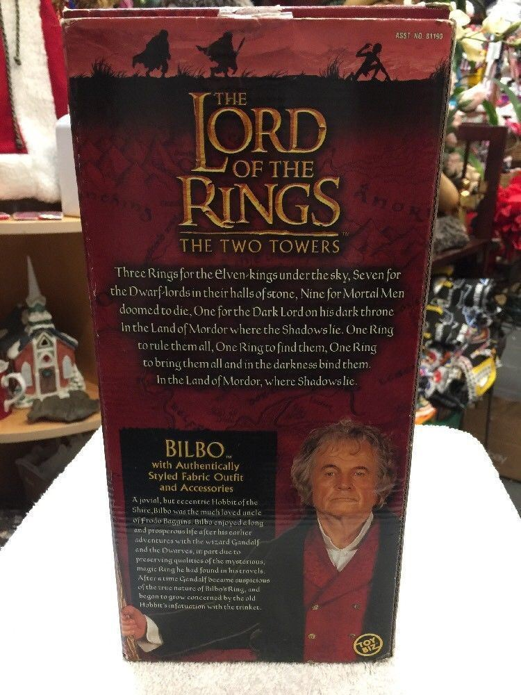 The Lord of the Rings The Two Towers Bilbo Baggins Doll Action Figure NIB 2002