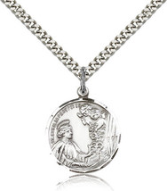 ST. CECILIA PENDANT - Sterling Silver Medal & Chain - 0037 image 1