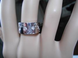 Gucci Mint 10 Diamond 18K Gold Icon Wide Band Ring 10.5g EU12/US6.75 $2925 w/BOX - $1,842.99