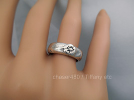 TIFFANY & Co. Nature Rose Flower Ring  Rare - Sterling Silver Sz 5.5 - $217.37