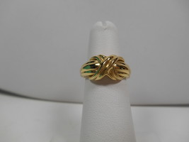 Tiffany & Co.18K Gold Signature X Kiss Rare Wide Band Ring Sz 5 EUC - $785.69