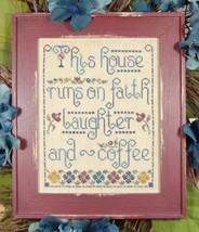 Faith Laughter & Coffee cross stitch chart My B... - $8.00