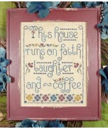 Faith Laughter & Coffee cross stitch chart My B... - $8.00