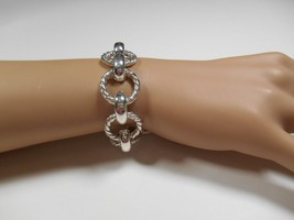 Tiffany & Co. Silver Rare Large Twisted Rope Link Bracelet Rare w/ Pouch... - $501.97