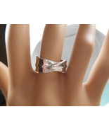 Tiffany & Co Leaf Ring Wide Band! Sz 6 Rare - $148.40