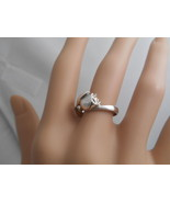 Tiffany & Co Tulip Flower Ring - Vintage! Rare! Sterling Silver 5.5 Pouc... - $392.84