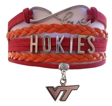 Virginia Tech VT Hokies Fan Shop Infinity Bracelet Jewelry - $12.99