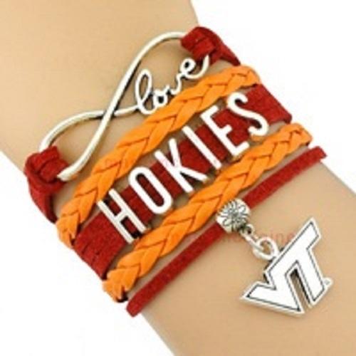 Virginia Tech VT Hokies Fan Shop Infinity Bracelet Jewelry