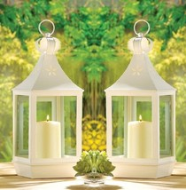 "Large Cutout Candle Lantern 15 3/4"" tall (Set of Two) Wedding Supplies 3... - $44.00"