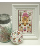 Easter House (2 designs) cross stitch chart Tin... - $9.90