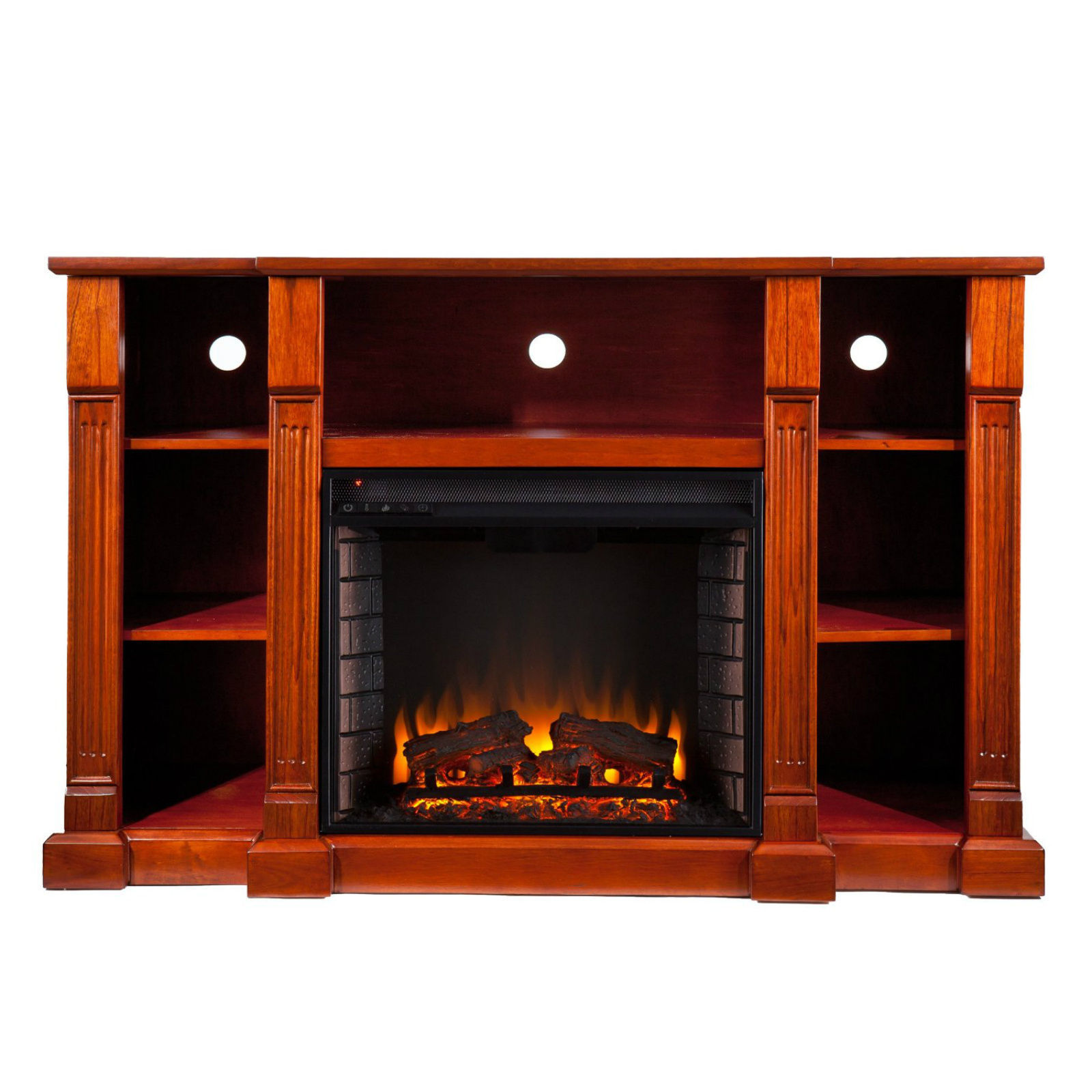 Fireplaces Media Center Electric Mantel Entertainment Tv Stand Unit Heater Home Entertainment