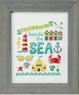 Beside The Sea cross stitch chart Tiny Modernis... - $8.10