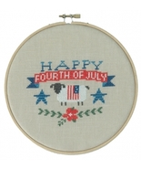 Happy 4th Of July cross stitch chart Tiny Modernist Inc - $7.20