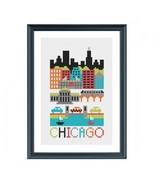 Chicago cross stitch chart Tiny Modernist Inc - $7.20