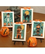 Halloween Cuties (4 designs) cross stitch chart... - $10.80