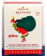 Hallmark 2016 Dr Seuss You're a Mean One Mr Grinch Christmas Ornament Sound