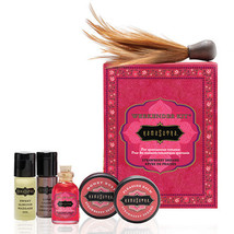 Kama Sutra Weekender Kit Strawberry Massage Oil Honey Dust Feather Roman... - $16.29