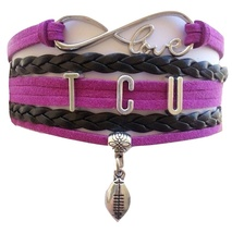 Texas Christian University TCU Horned Frog Fan Shop Infinity Bracelet Jewelry - $12.99