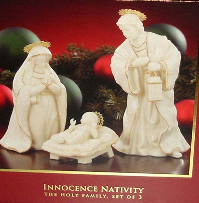 Lenox Innocence Nativity The Holy Family Set/3 Figurines Mary, Joseph & Baby NEW