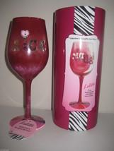 Lolita Valentine's Naughty and Nice Wine Glass New w Box & Tag Valentine... - $33.90