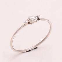 925 Sterling Silver Plain Silver Designer Ring 6 us Small Cute Ring r1734 - $7.71