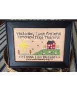 Grateful Thankful Blessed cross stitch chart Needle Bling Designs  - $9.00