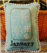 January What's In Your Jar cross stitch chart N... - $5.00