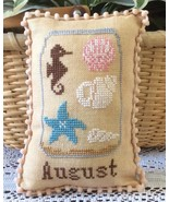 August What's In Your Jar cross stitch chart Ne... - $5.00