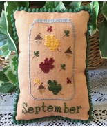 September What's In Your Jar cross stitch chart... - $5.00