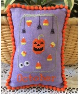 October What's In Your Jar cross stitch chart N... - $5.00