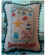 December What's In Your Jar cross stitch chart ... - $5.00