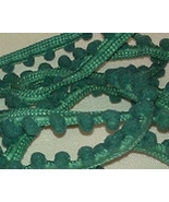 Spruce Pom Pom trim hand-dyed cross stitch Dame... - $2.80