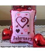 February What's In Your Jar cross stitch chart ... - $5.00