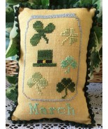 March What's In Your Jar cross stitch chart Nee... - $5.00