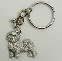 Shih Tzu Dog Keychain Keyring Harris Pewter Mad... - $9.48
